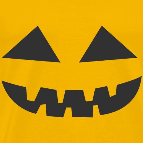 Halloween Kürbis Gesicht - Männer Premium T-Shirt