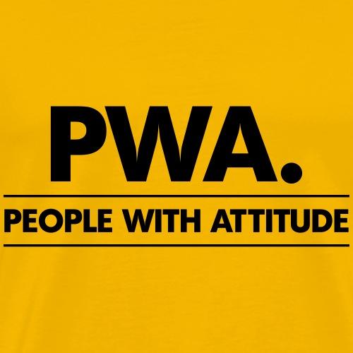PWA-zwart - Mannen Premium T-shirt