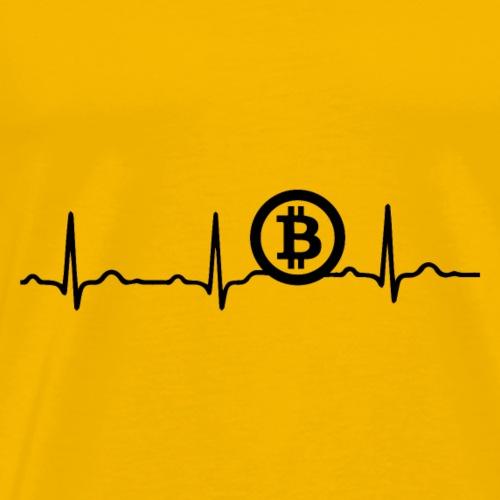 EKG HERZSCHLAG BITCOIN BTC - Kryptowährung Black - Männer Premium T-Shirt
