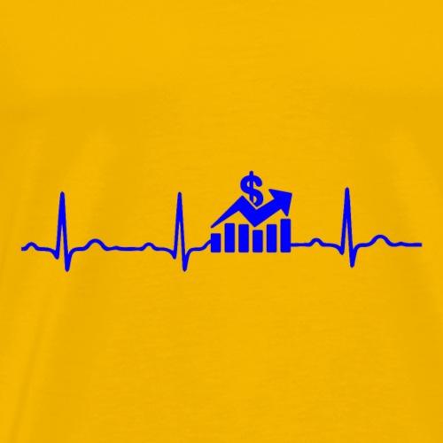 EKG HERZSCHLAG Börse - Kryptowährung Blue - Männer Premium T-Shirt