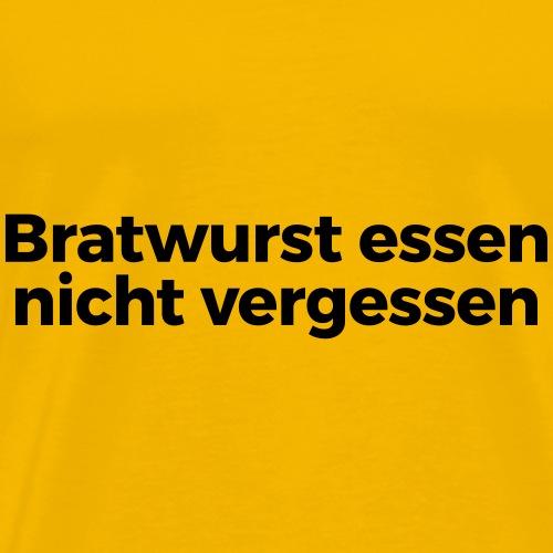 Bratwurst essen - Männer Premium T-Shirt