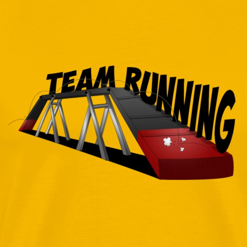 team Running noir Rouge - T-shirt Premium Homme