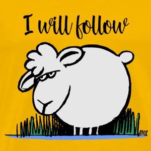 I Will Follow KLEUR - Mannen Premium T-shirt