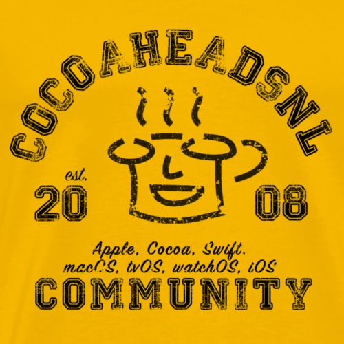 CocoaHeadsNL Vintage look Black - Mannen Premium T-shirt
