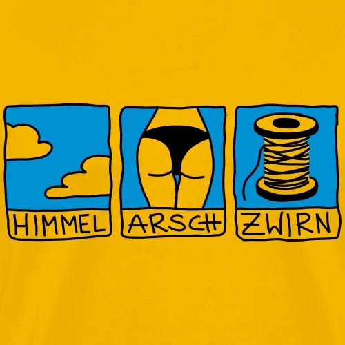 himmel, arsch und zwirn - Männer Premium T-Shirt