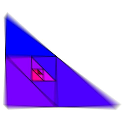 Enzoma - blau-violettes Dreieckendesign - Männer Premium T-Shirt