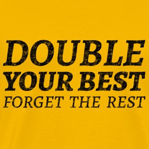 Motivation Unternehmer Bildung Fitness Workout Gym - Männer Premium T-Shirt