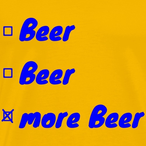 Mehr Bier - Männer Premium T-Shirt