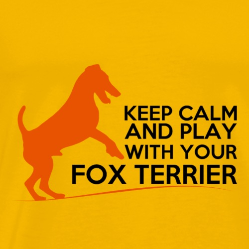 FOX KEEP CALM ORANGE - T-shirt Premium Homme
