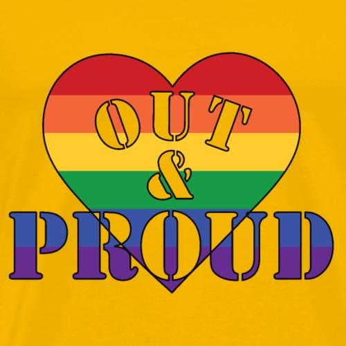 out proud1 - Männer Premium T-Shirt