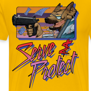 Gun Dog - Serve and protect - napis - Koszulka męska Premium