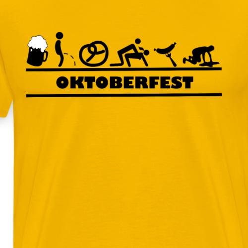 Oktoberfest München Wiesn Bretzel Wurst Bier - Männer Premium T-Shirt