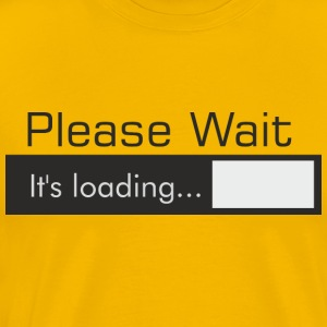 PLEASE_WAIT - Premium T-skjorte for menn