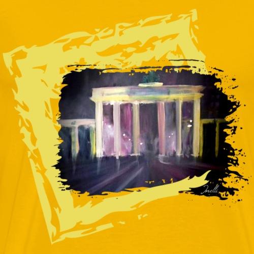 Berlin Motiv mit Brandenburger Tor bei Nacht - Männer Premium T-Shirt