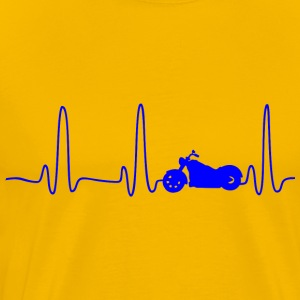 EKG HEART LINE BIKE blue - Premium-T-shirt herr