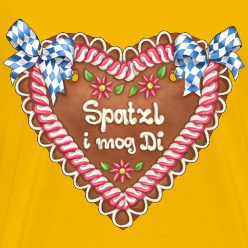 Lebkuchenherz - Spatzl i mog Di - Männer Premium T-Shirt