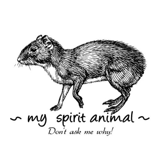Mon animal totem est l'agouti. - T-shirt Premium Homme