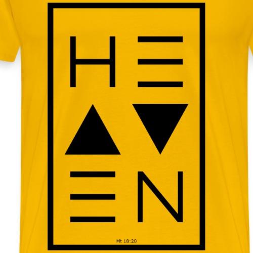 Heaven BLACK - Männer Premium T-Shirt