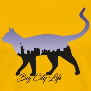 Cat i New York Design - Premium T-skjorte for menn