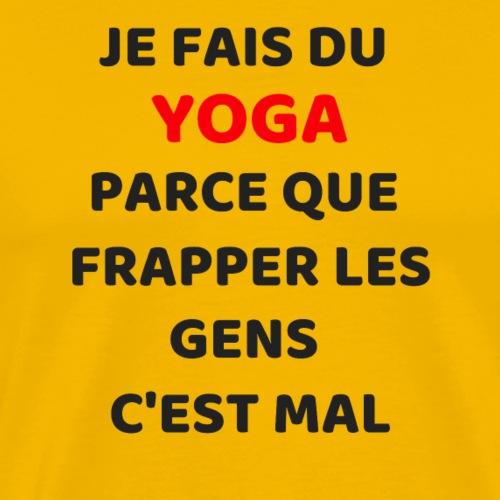 Je fais du yoga - T-shirt Premium Homme