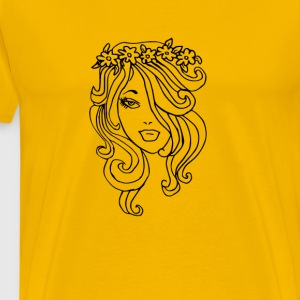 Flower dame - Premium T-skjorte for menn