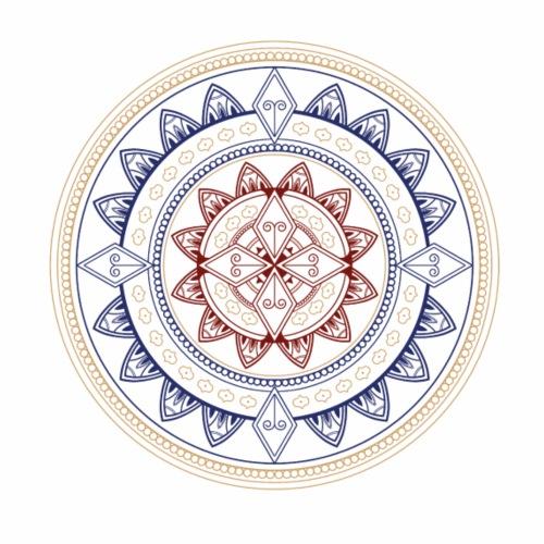 Mandala Tattoo Blume des Lebens als Geschenkidee - Männer Premium T-Shirt
