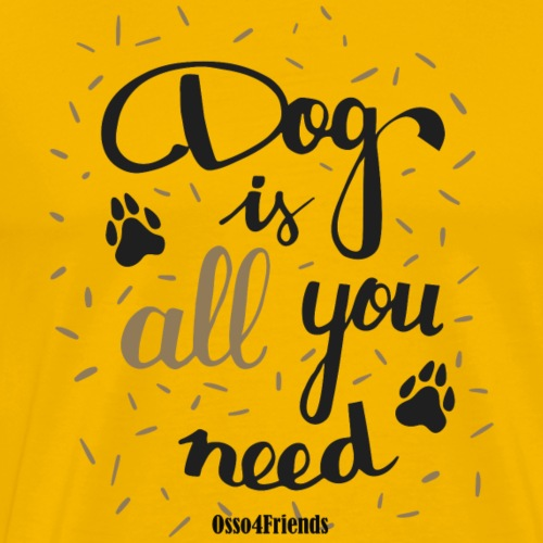 DOG IS ALL YOU NEED - Maglietta Premium da uomo