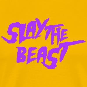 SLAY THE BEAST Purple - Men's Premium T-Shirt