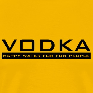 Vodka - happy vann - Premium T-skjorte for menn