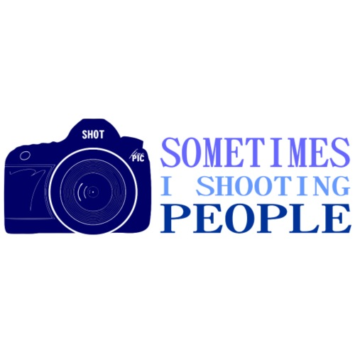 SHOOTING PEOPLE - Blue - Männer Premium T-Shirt