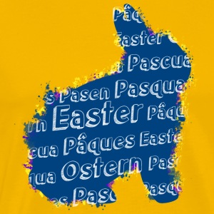 Easter bunny with Easter in different languages - Men's Premium T-Shirt
