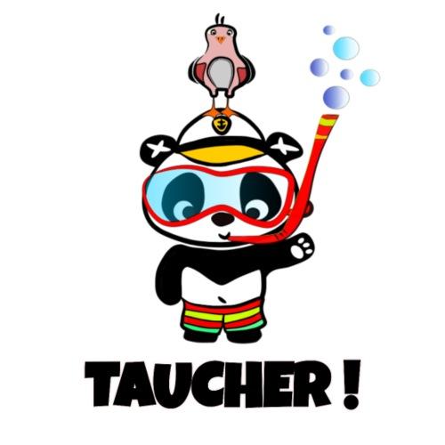 Taucher Panda - Mit Taucherbrille und Badehose - Männer Premium T-Shirt