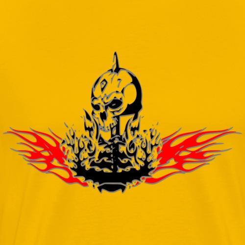 Ghost aus dem Feuer - Männer Premium T-Shirt