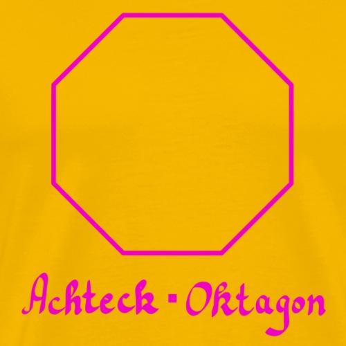 Achteck Oktagon - Männer Premium T-Shirt
