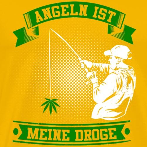 ANGELN IST MEINE DROGE - GREEN - Männer Premium T-Shirt