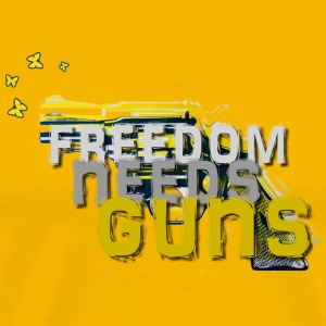 Freedom needs guns! - Männer Premium T-Shirt