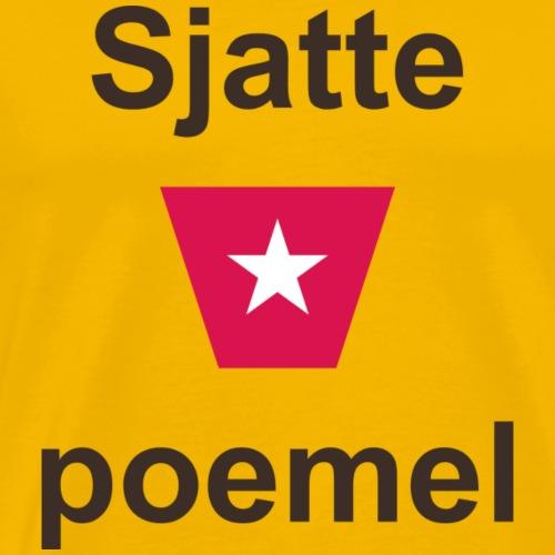 Sjattepoemel ms vert b - Mannen Premium T-shirt