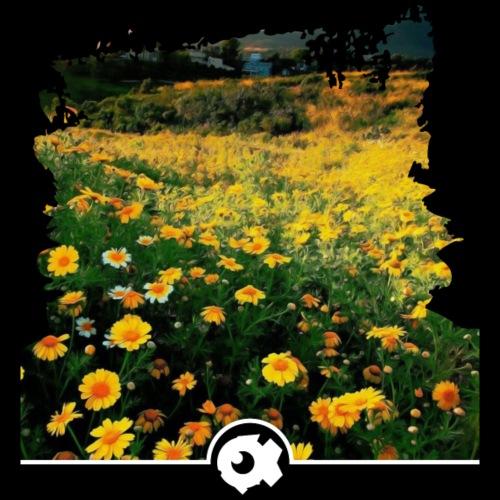 Frühlingswiese mit gelben Blumen - Männer Premium T-Shirt
