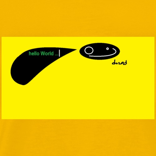 hello world Yellow - Männer Premium T-Shirt