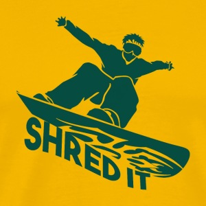 SHRED IT - Boarder Macht - Mannen Premium T-shirt