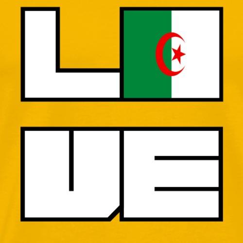 Love Heimat Wurzeln Roots Algerien - Männer Premium T-Shirt