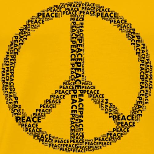 Peace Friedenssymbol - Männer Premium T-Shirt