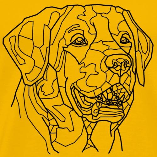 Hund Line Art - Männer Premium T-Shirt