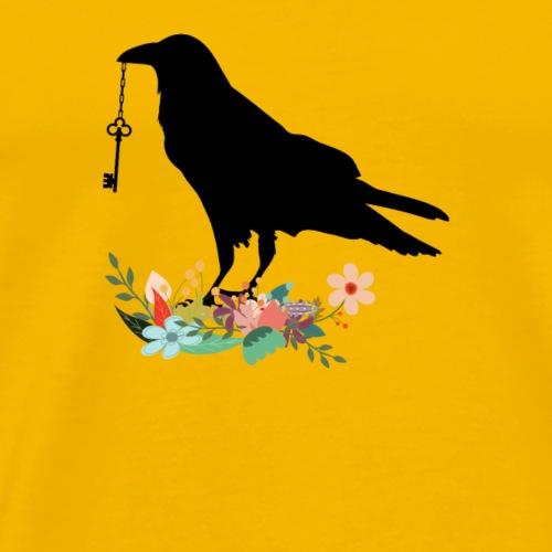 Oiseau avec clef - T-shirt Premium Homme