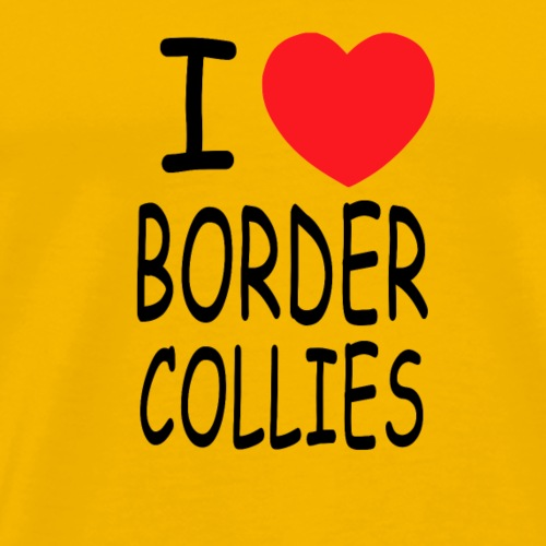 i love border collies - Männer Premium T-Shirt