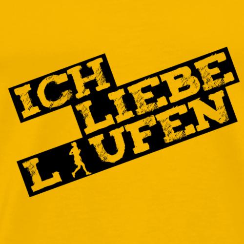 Ich Liebe Laufen - Männer Premium T-Shirt