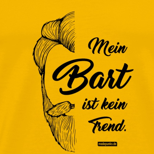 MEIN BART IST KEIN TREND - Männer Premium T-Shirt