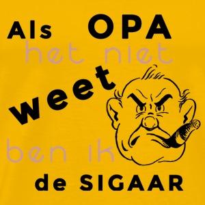 als opa het niet weet ben ik de sigaar - Mannen Premium T-shirt