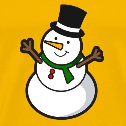 Happy snowman - Men's Premium T-Shirt