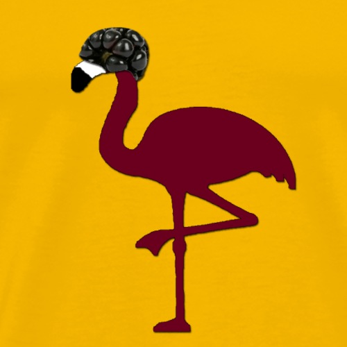 Blackberry Flamingo - Männer Premium T-Shirt